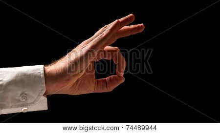 Human Hand In Okay Hand Sign