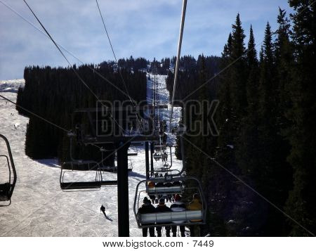 Riding The Chair Lift B