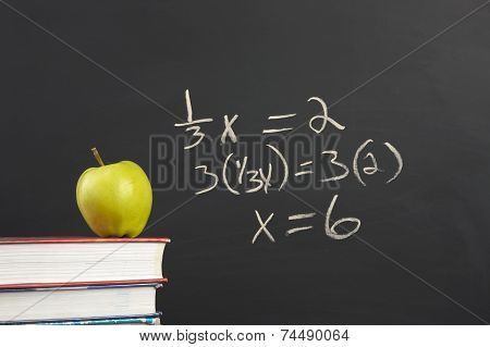 Green Apple And Algebra Equation.