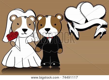 hamster married cartoon background