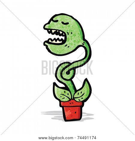 cartoon carnivorous plant