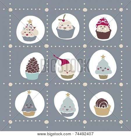 cute winter cupcake template