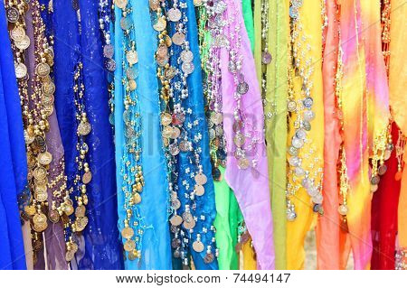 Belly dancers' scarfs