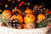 picture of christmas spices  - Christmas basket  - JPG