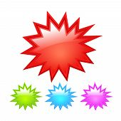 image of starburst  - Starburst icons set isolated on white background - JPG