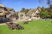 stock photo of hamlet  - Farmhouse at Marie Antoinette - JPG