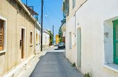 foto of larnaca  - The narrow residential street leads to the sea Larnaca Cyprus - JPG