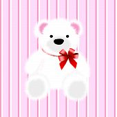 picture of nouns  - pink baby teddy bear and vector illustration - JPG