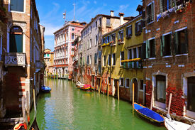 stock photo of dialect  - view of a secondary canal - JPG