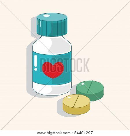 Hospital Theme Medicine Elements Vector,eps