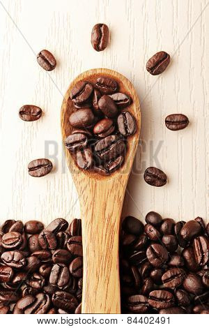 Creativity that coffee and wooden spoon