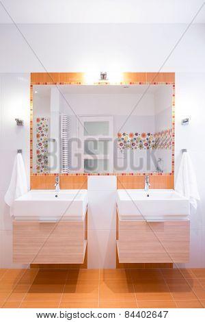 Orange Tiles In Modern