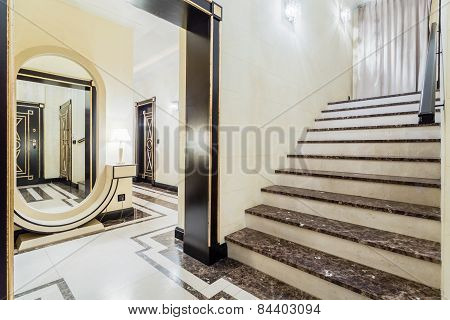 Granitic Stairs In Luxury Residence