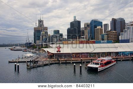 Sydney, Australia.. - December 11, 2014: Darling Harbour On 11 D