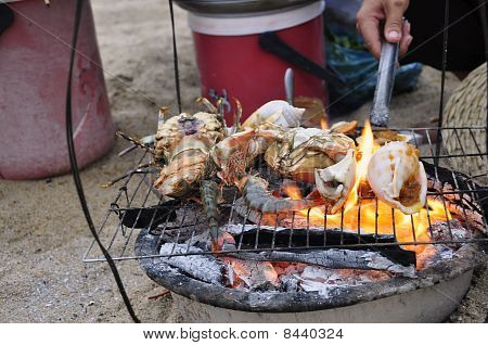 Barbecued Shellfish