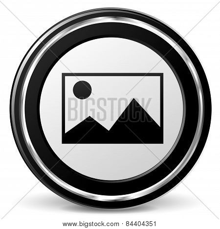 Pictures Icon With Metal Ring