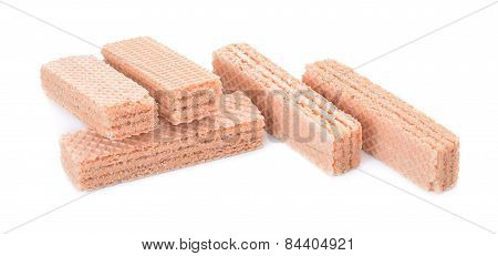 Wafer Candy Isolated On White Background