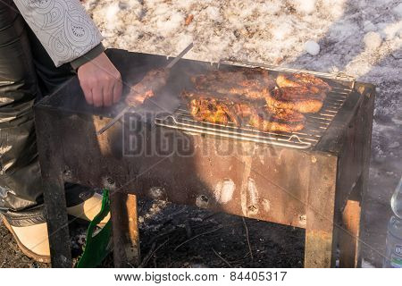 A Wintry Barbecue