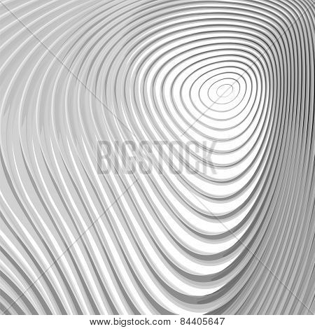 Design Monochrome Whirl Circular Motion Background