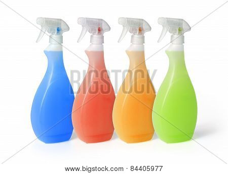 Colourful Spray Cleaners
