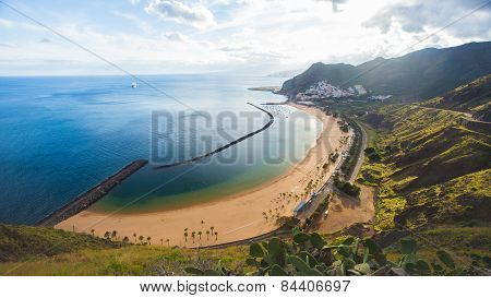 Beach Las Teresitas on Tenerife