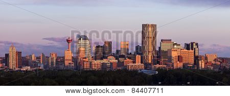 Panorama Of Calgary At Sunrise