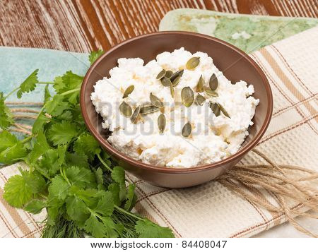 Cheese With Pumpkin Seeds