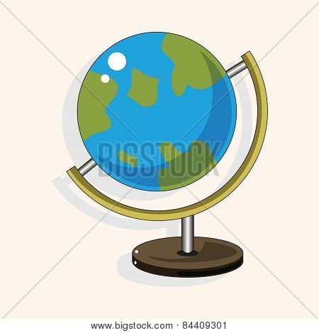 Classroom Globe Theme Elements Vector,eps