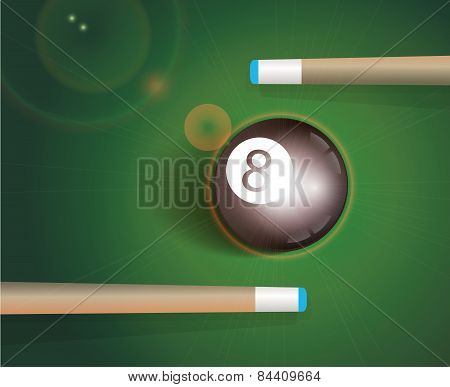 The Eight Ball . Billiard Background