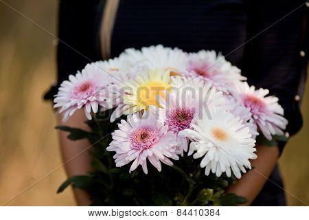 Flowers Bouquet In Hands