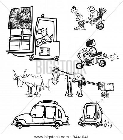 transports illustrations