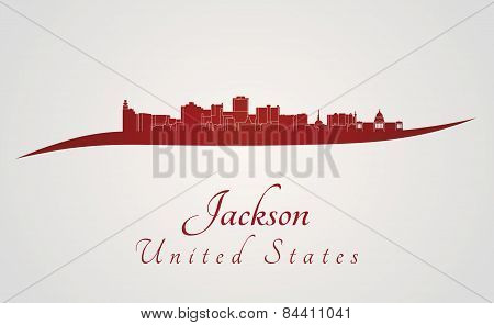 Jackson Skyline In Red