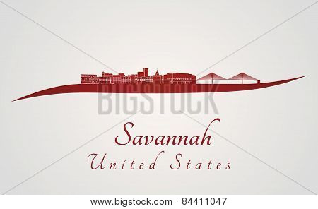 Savannah Skyline In Red