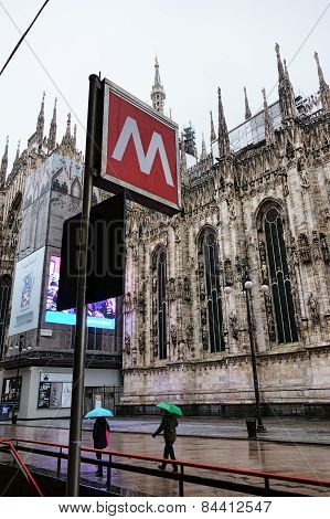 Metro Sign In Milan