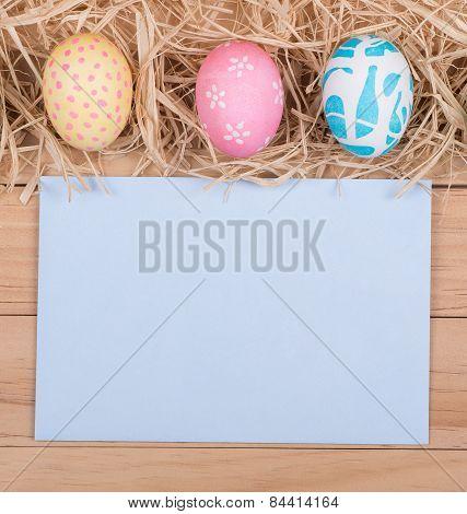 Colored Easter Egg Border
