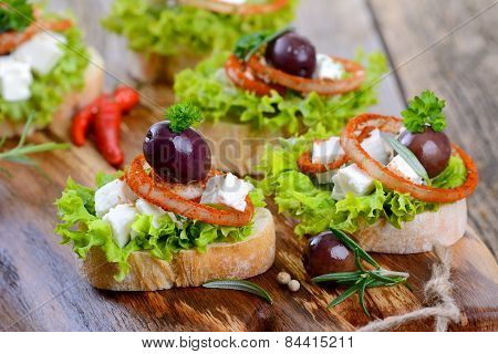 Cheese appetizers