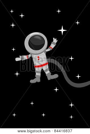 Astronaut Zero Gravity In Outer Space