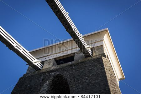 Clifton Suspension Bridge Cables And Pylon, Bristol, Uk