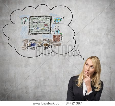 Woman Thinking About Education