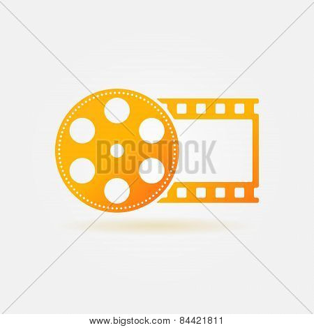 Gold cinema or movie logo