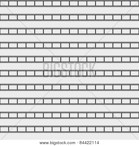 Seamless pattern with film strips