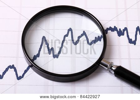 Graphs And Magnifying Glass