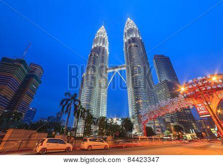 Petronas Twin Towers at Kuala Lumpur Malaysia
