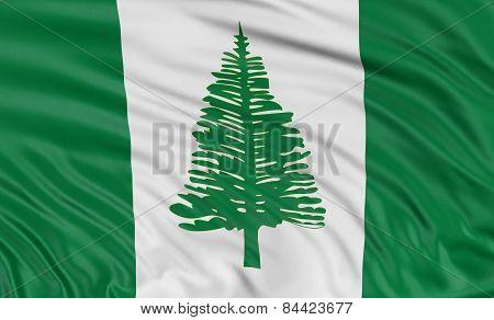 3D Norfolk Island flag