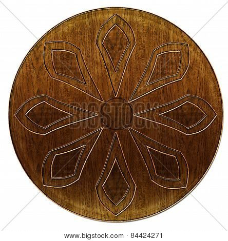 3D Wood Etched Abstract Flower