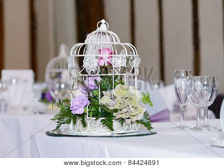 Wedding Reception Table Decoration