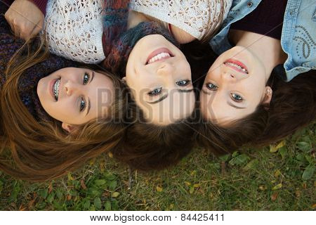 Trio Of Happy Girlfriends