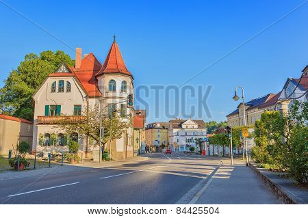 Fussen city of Bavaria Germany