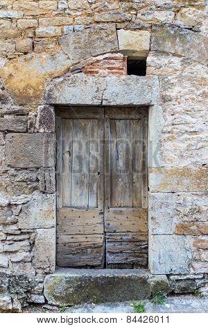 Old Worn Wooden Door