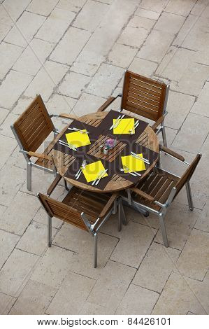Outdoor Summer Cafe Tables With Chairs